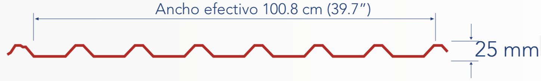 Medidas de la lámina R101